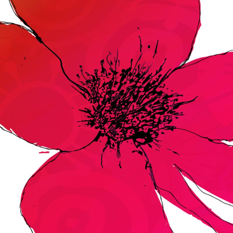 Bloemenkaarten - vlammend rood