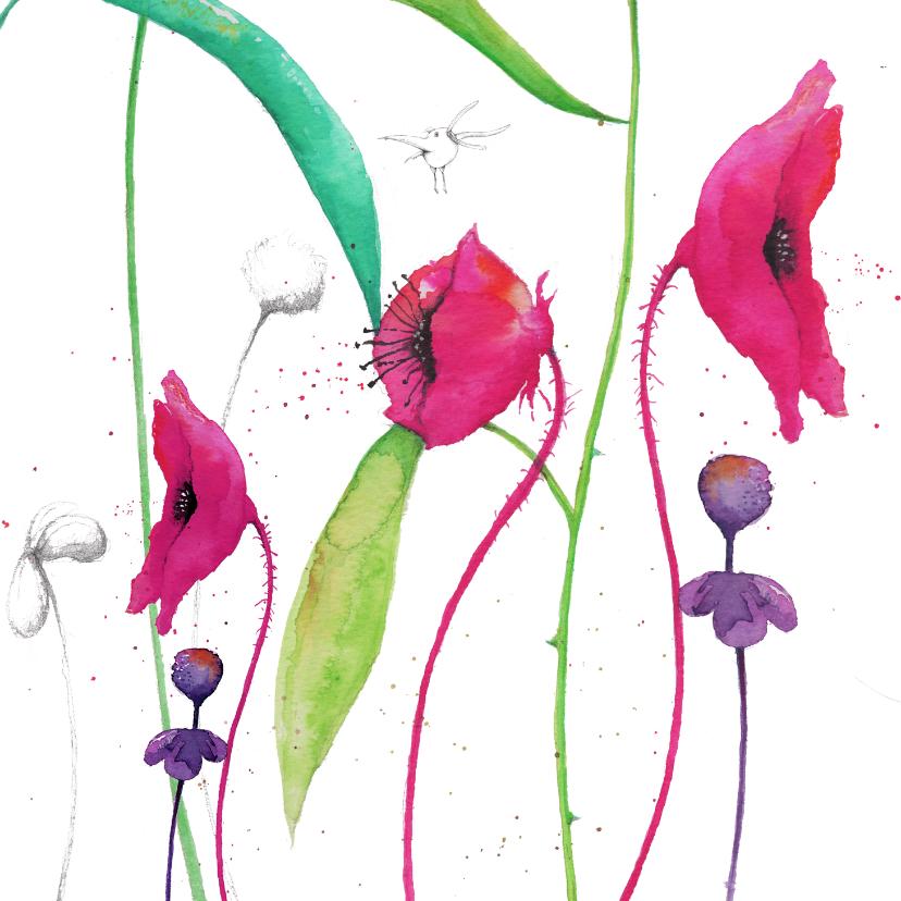 Bloemenkaarten - Warme bloemenwensen