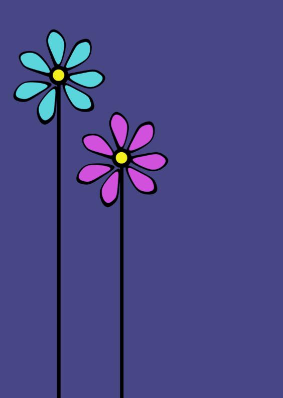 Bloemenkaarten - wenskaart
