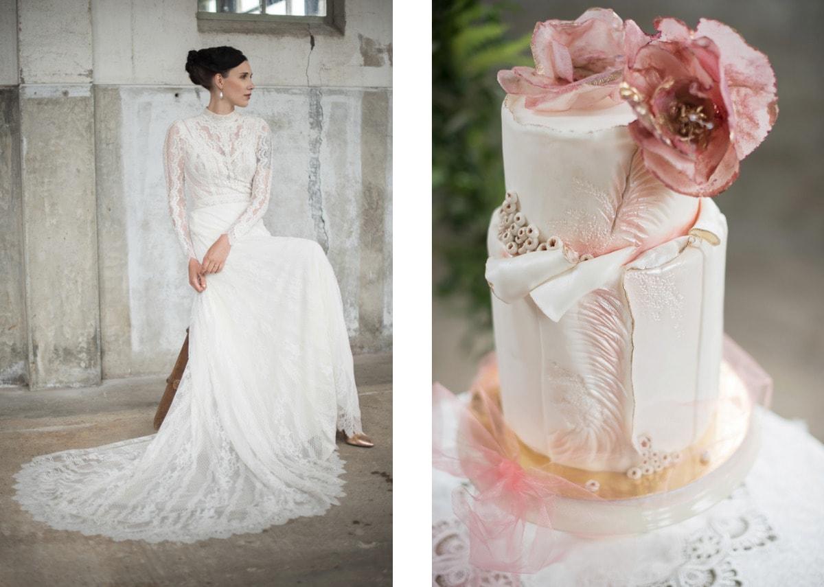 Bruids-taart-roze