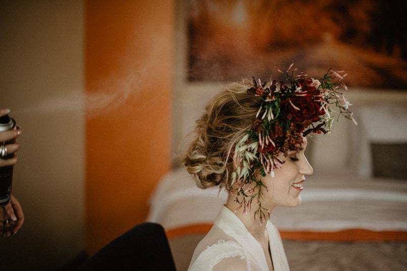 Bloemenkrans voor je trouwdag