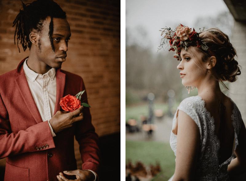 Bruiloft met bordeaux
