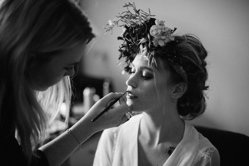 Bloemenkrans bruiloft