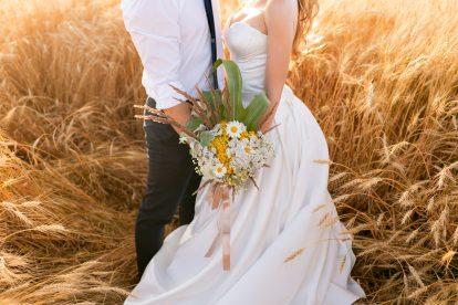 Bruiloft op een boerderij