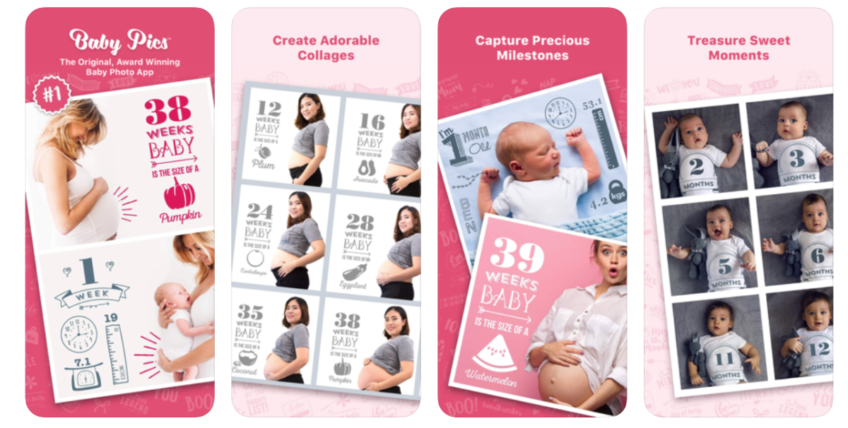 Buikfoto app Baby Pics