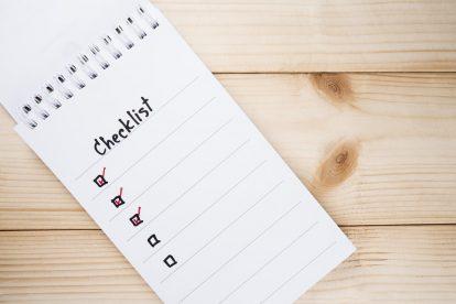 Checklist diner