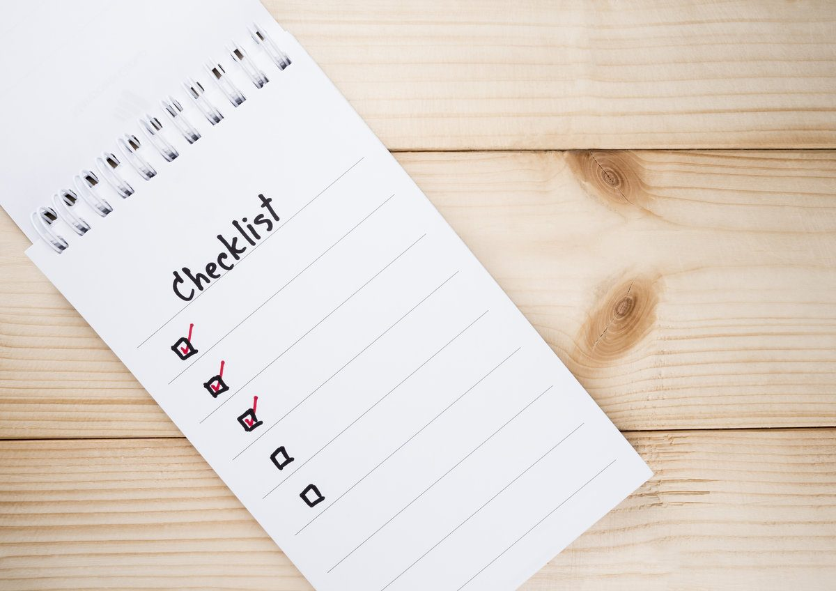 Checklist oud en nieuw