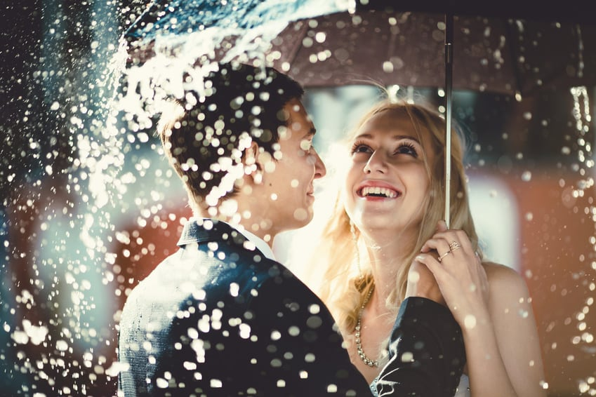 Tips bij regen op je bruiloft