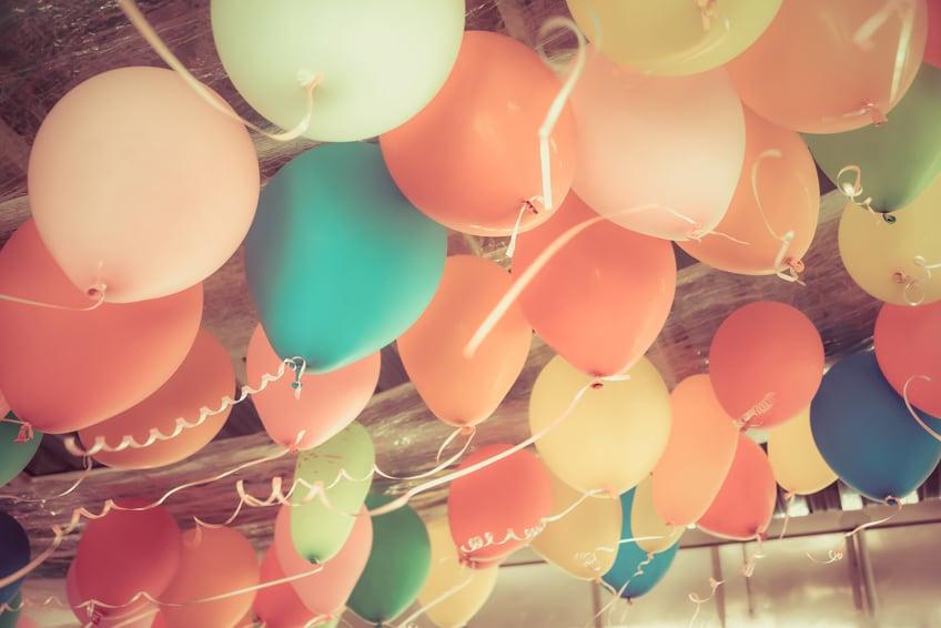 Ballonnen voor een goedkoop communiefeest