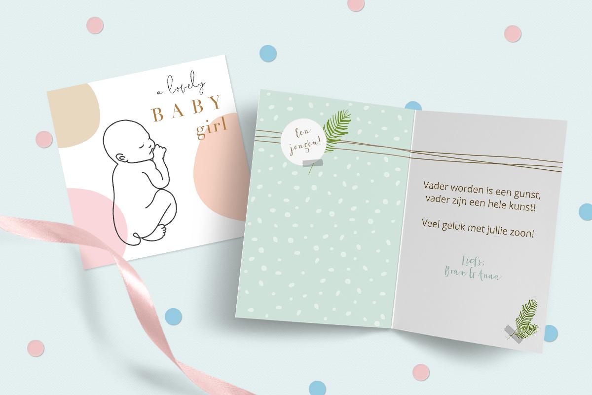 Tekst felicitatiekaart geboorte