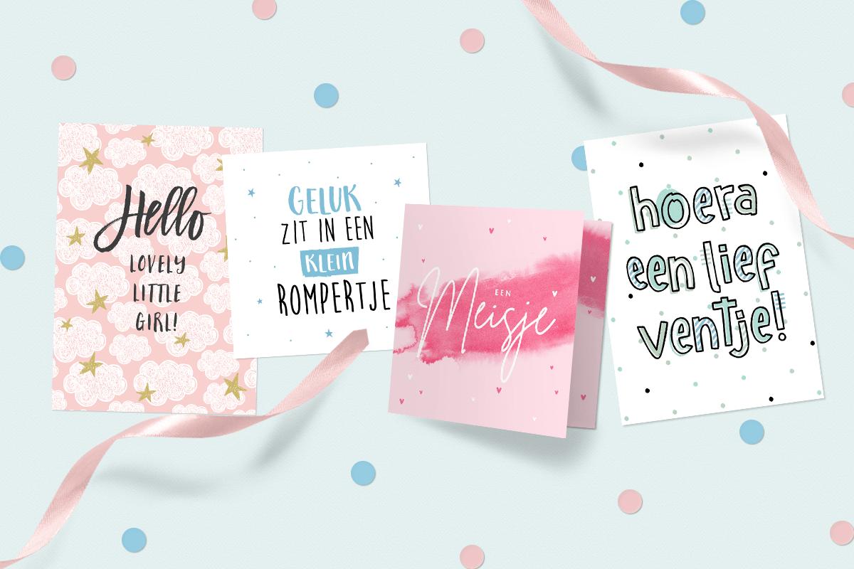 Wat zet je op een geboorte felicitatie kaartje?