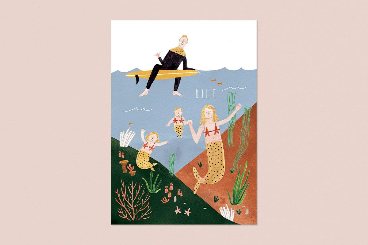 Familieportret als geboortekaartje