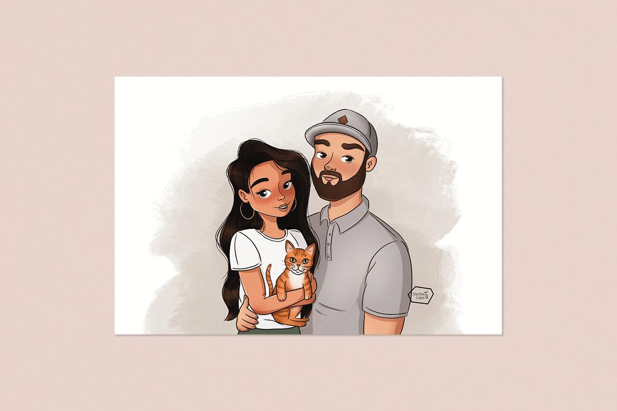 Familie illustratie