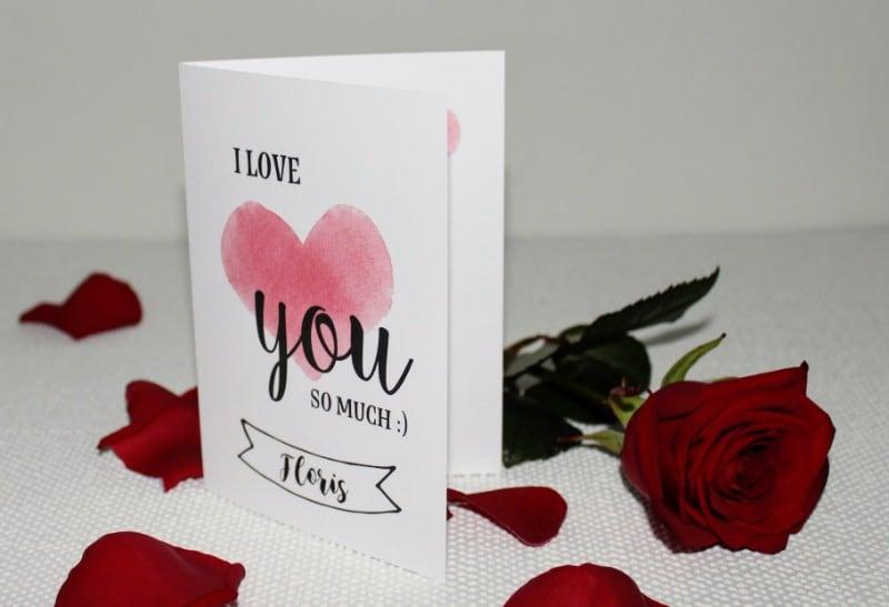 Leuke valentijnskaarten met naam