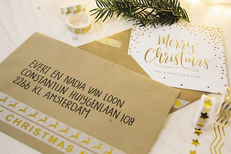enveloppen versieren kerst