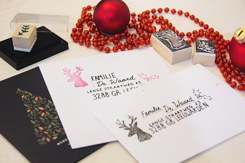 envelop versieren kerst