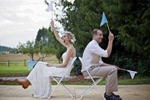 Hilarisch huwelijksjubileum spel