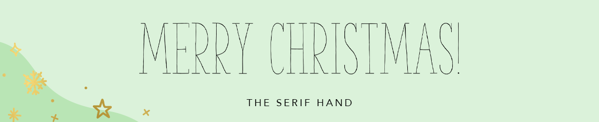 Kerst lettertype Word The Serif Hand