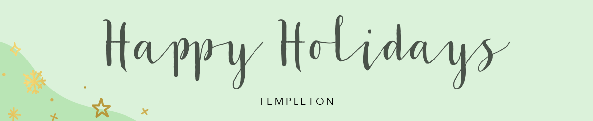 Kerst handlettering letters Templeton