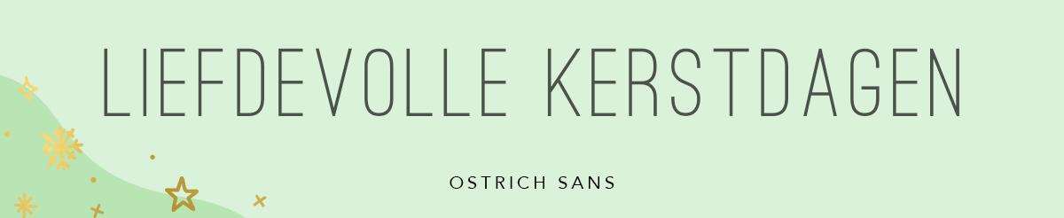 Minimalistisch lettertype gratis downloaden kerst Ostrich Sans