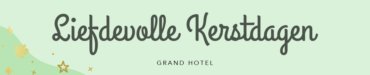 Kerst font Grand Hotel