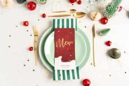 Kerst menukaart ideeën