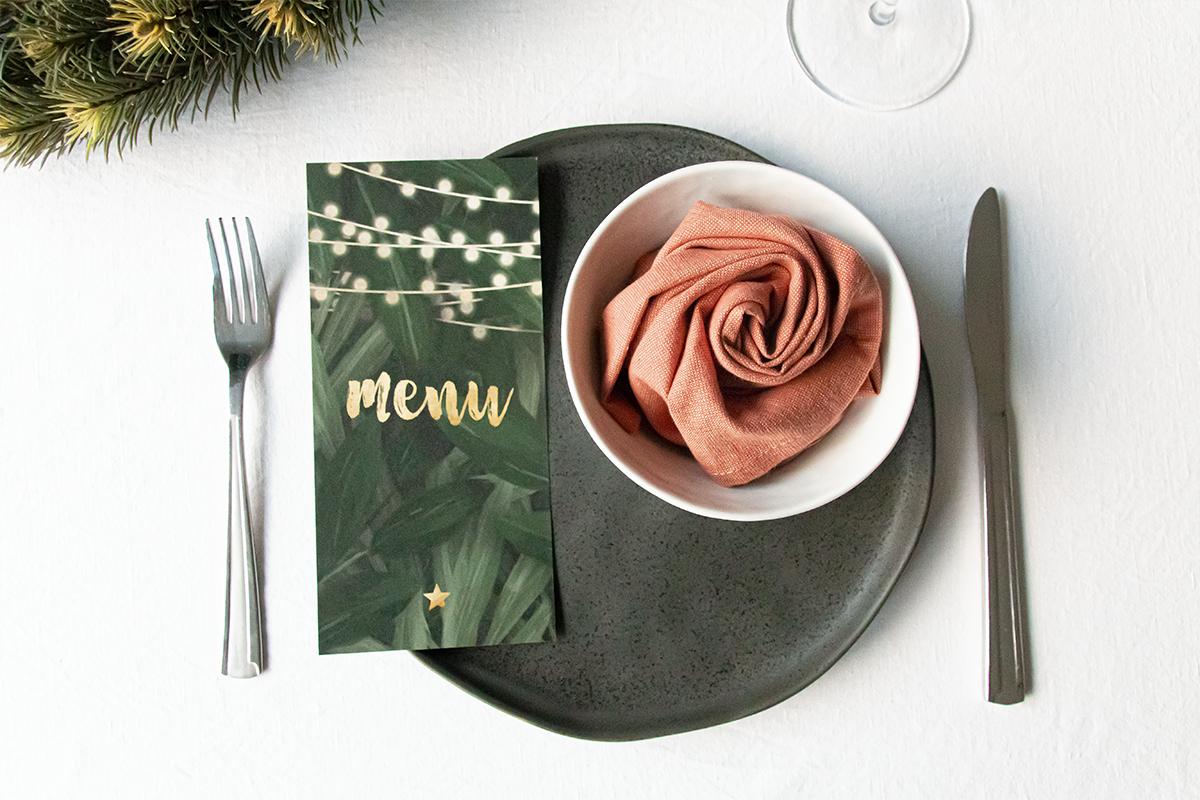 Kerst menukaarten