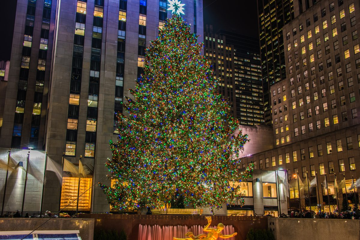 Grote kerstboom Rockefeller Center New York