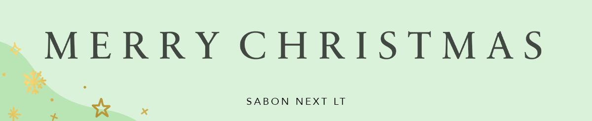Lettertypes Word kerst Sabon Next LT