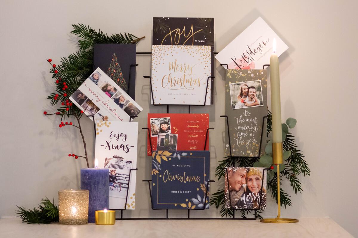 Kerstkaarten leuk ophangen