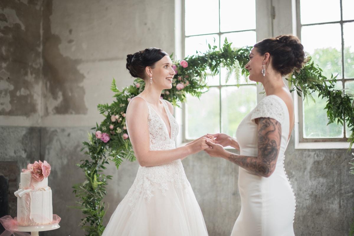Kleur roze bruiloft