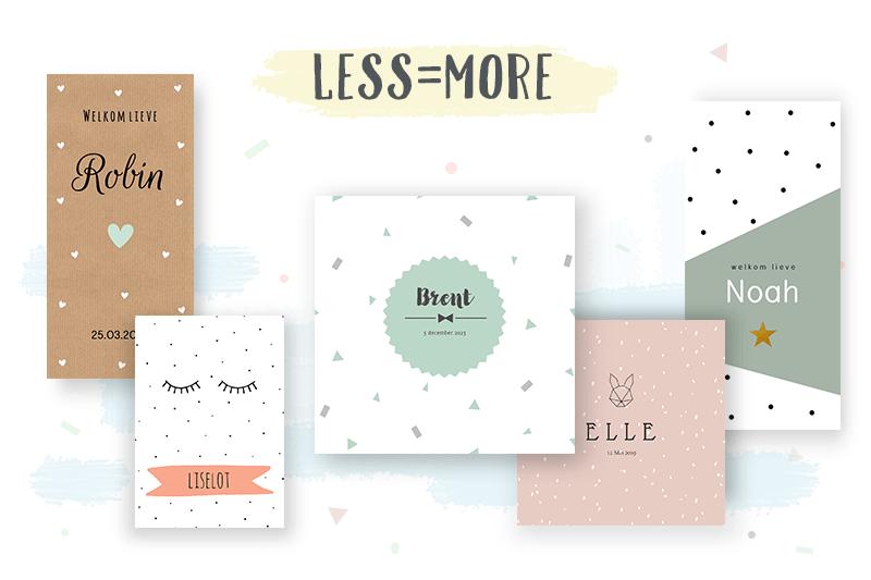 Geboortekaartjestrends: Less is more