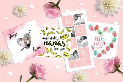 Leuke valentijnskaarten voor Valentijnsdag