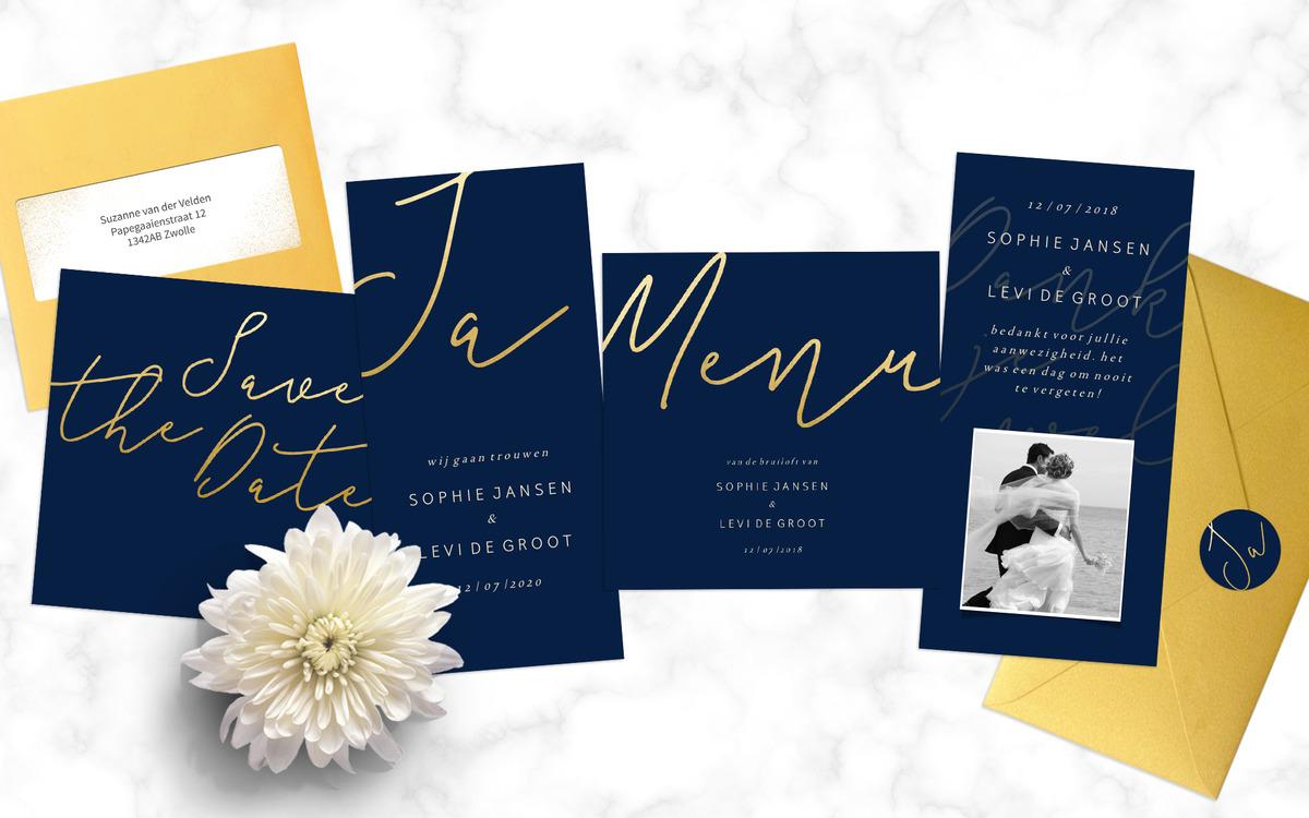 Luxe trouwkaartenset
