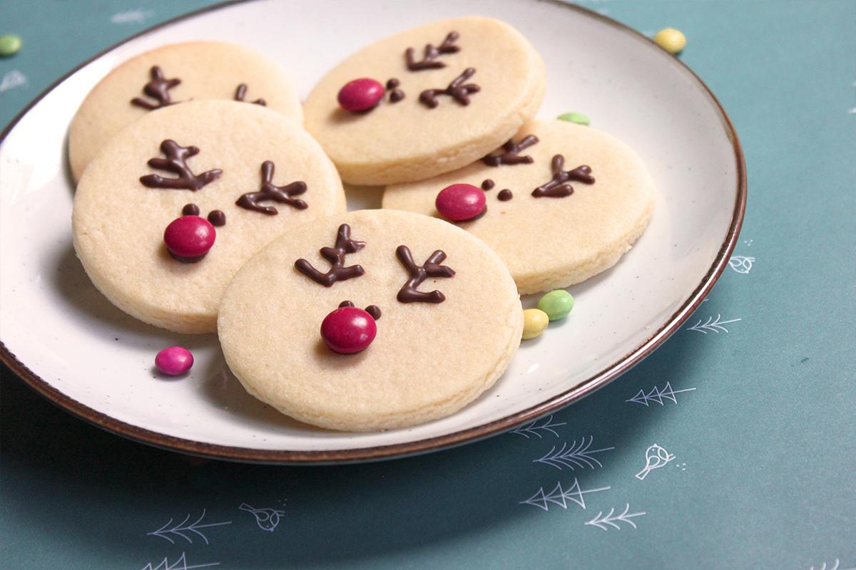 Rendier kerstkoekjes met chocola