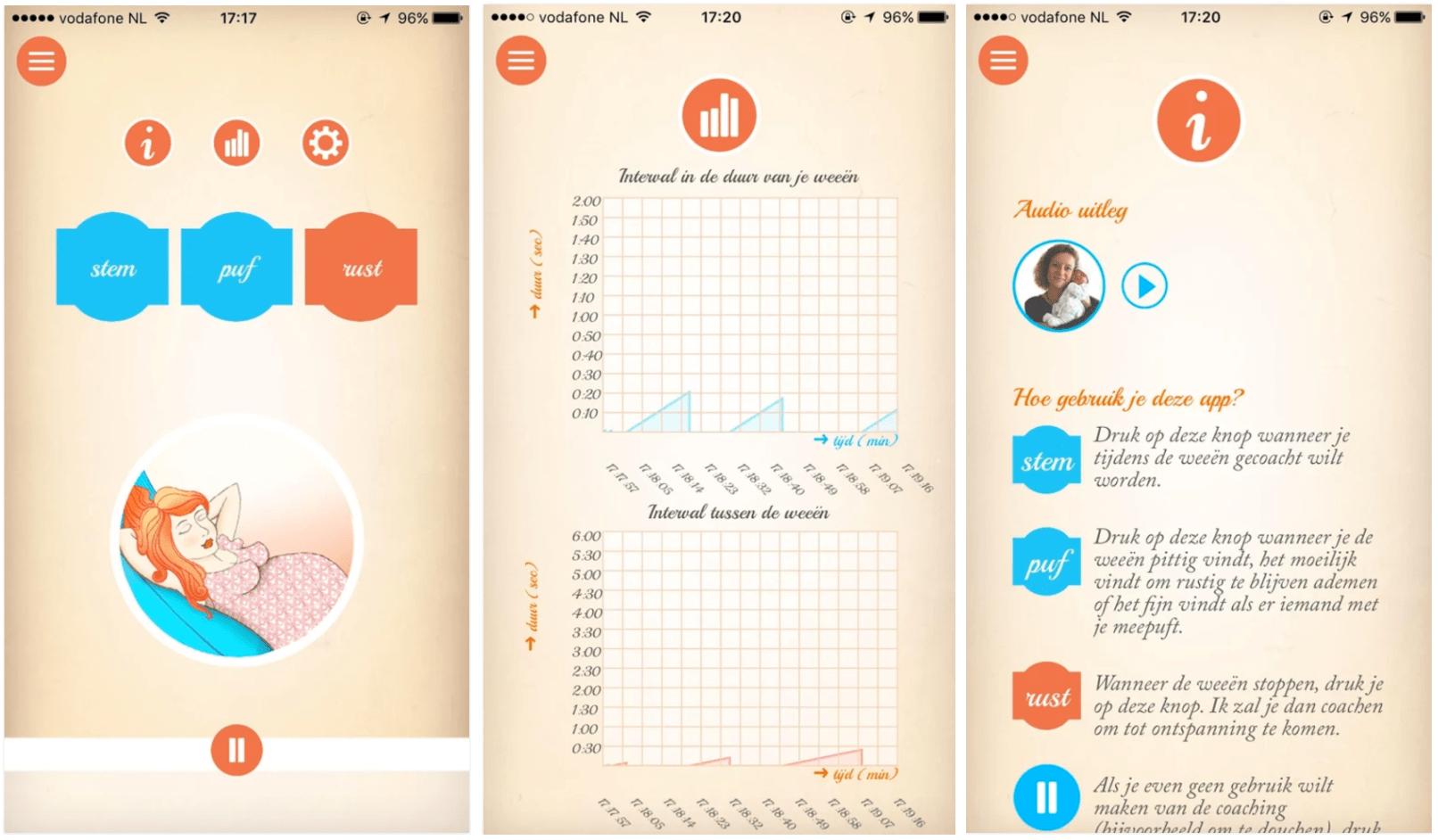 Zwangerschaps app Doula Bevallingscoach