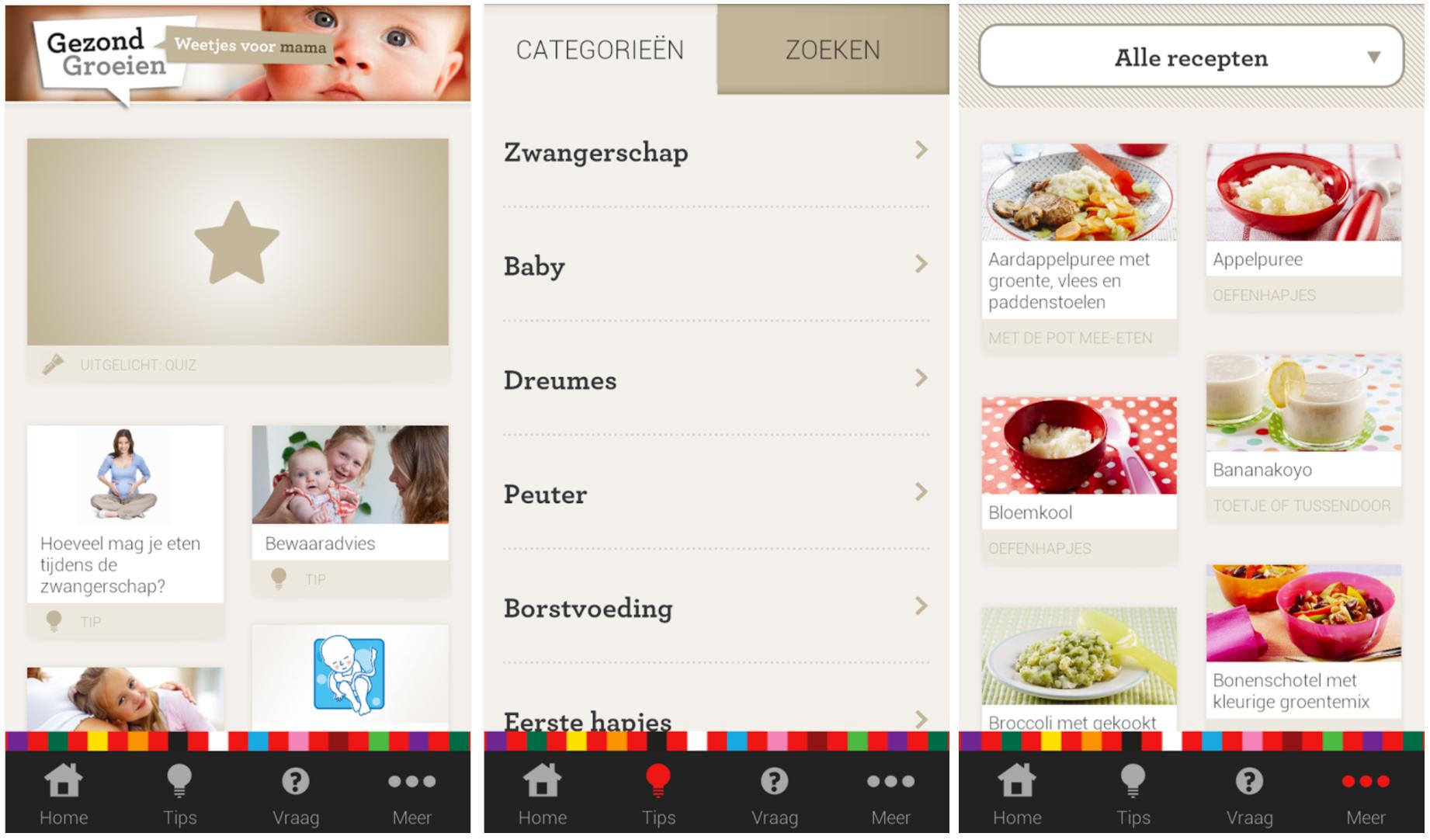 Zwangerschaps app Gezond Groeien