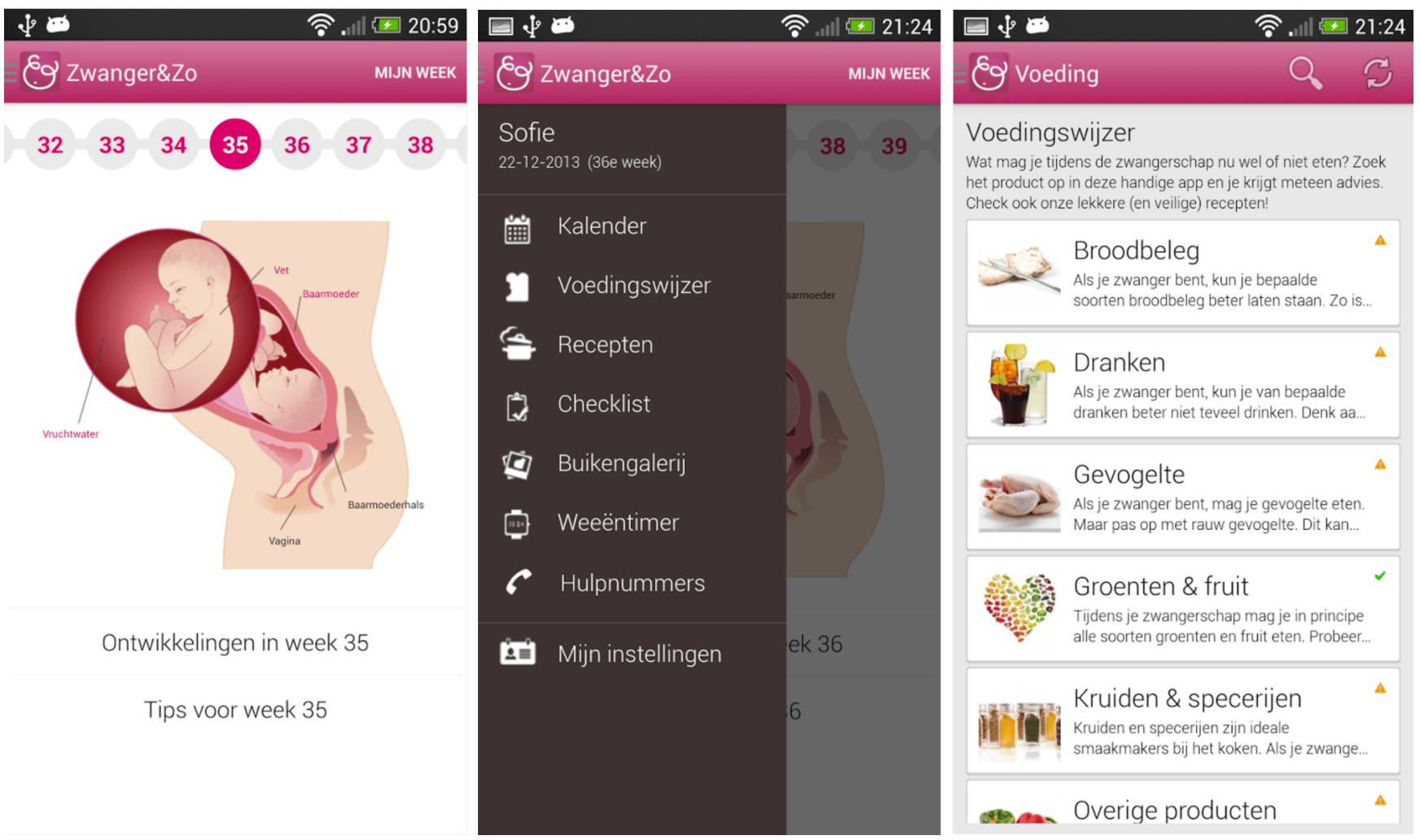 Zwangerschap app Zwanger en Zo