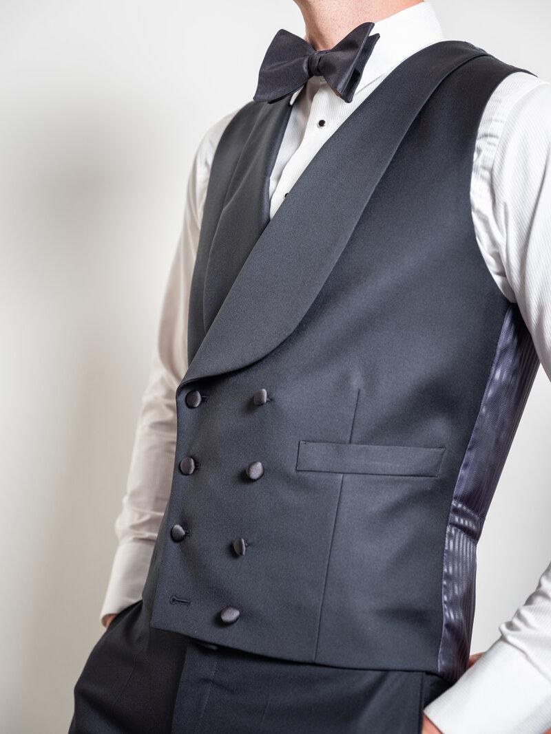 Trouw kostuum trend zwart
