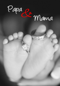 Trouwkaart papa en mama gaan trouwen