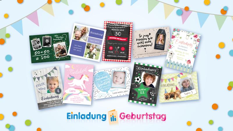 Duitstalige uitnodiging voor een verjaardag