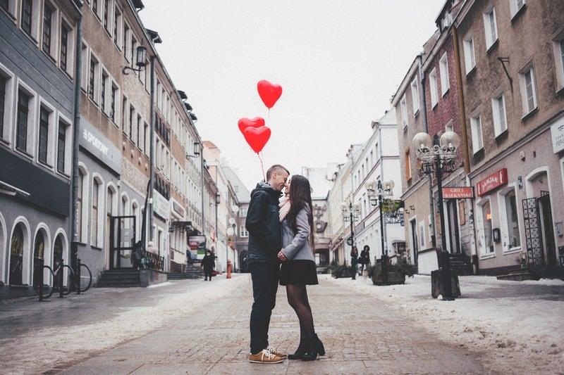Valentijnsdag in een andere stad