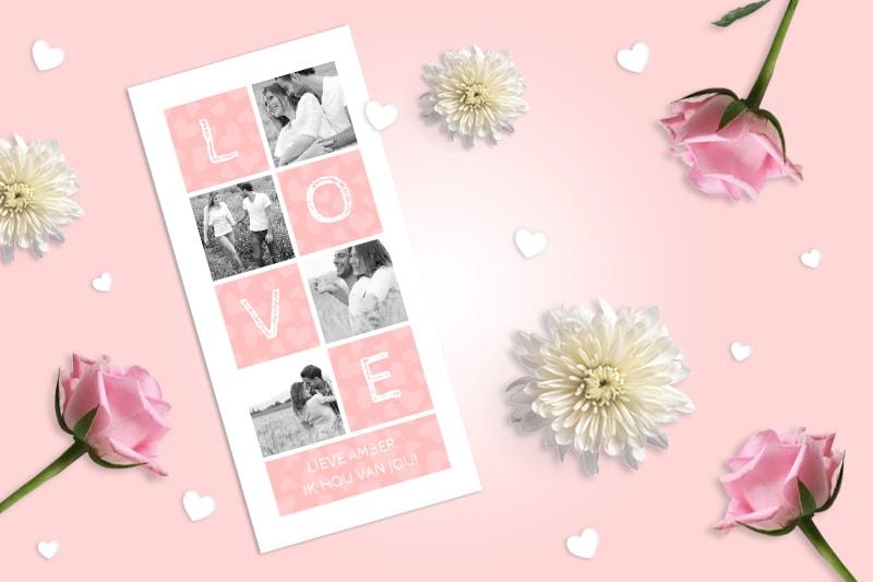 wat zet je op een valentijnskaart