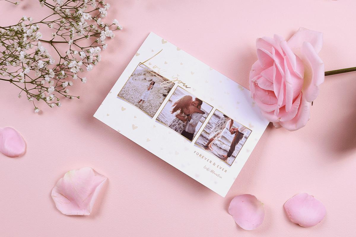Valentijnskaart met foto