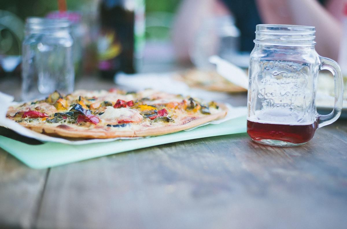 Verjaardag vieren pizza