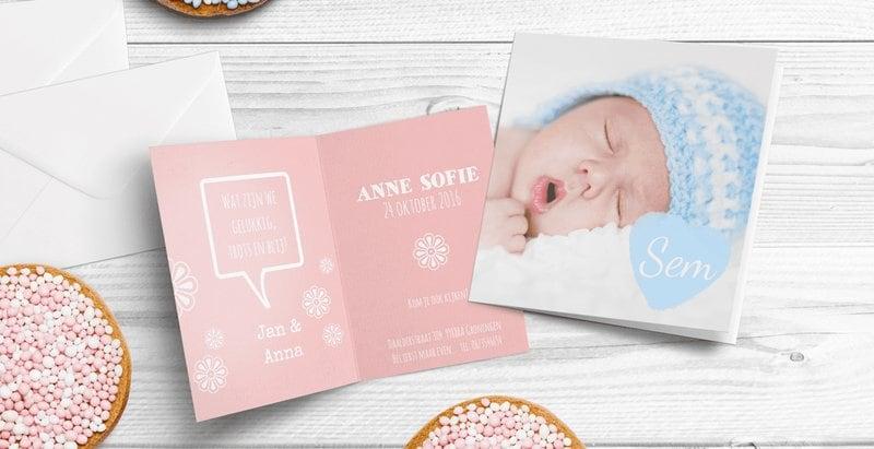 Wat moet je regelen voor geboortekaartjes?