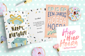Wat zet je op een verjaardagskaart