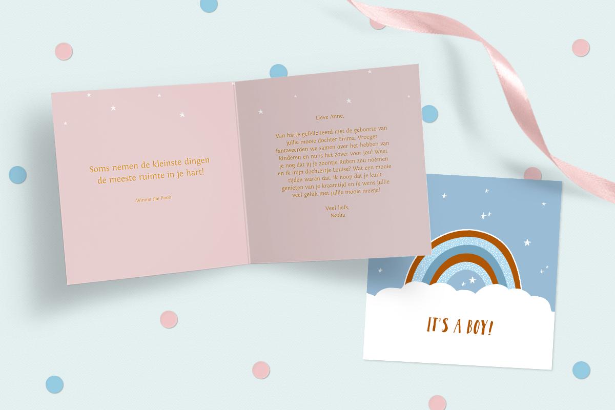 Geboorte felicitatie tekst