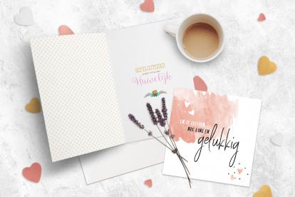 Wat zet je op een huwelijks felicitatie kaart?