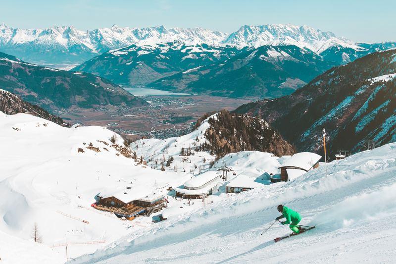Witte kerst in de Alpen